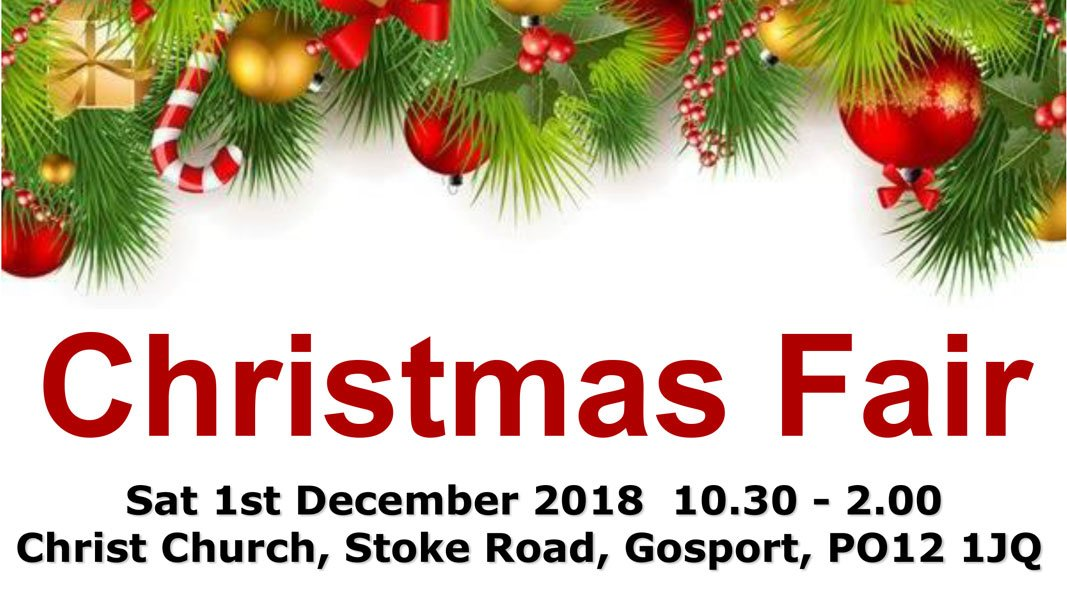 christmas fair 2018 - holy triniy and christ church gosport