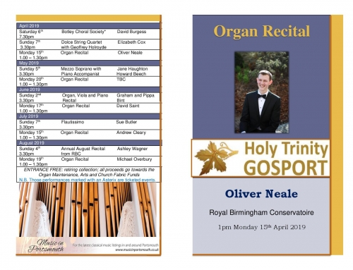 Easter Recital with Oliver Neale