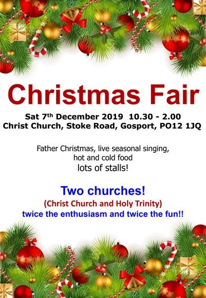 christmas fair 2019 - holy trinity and christ church gosport